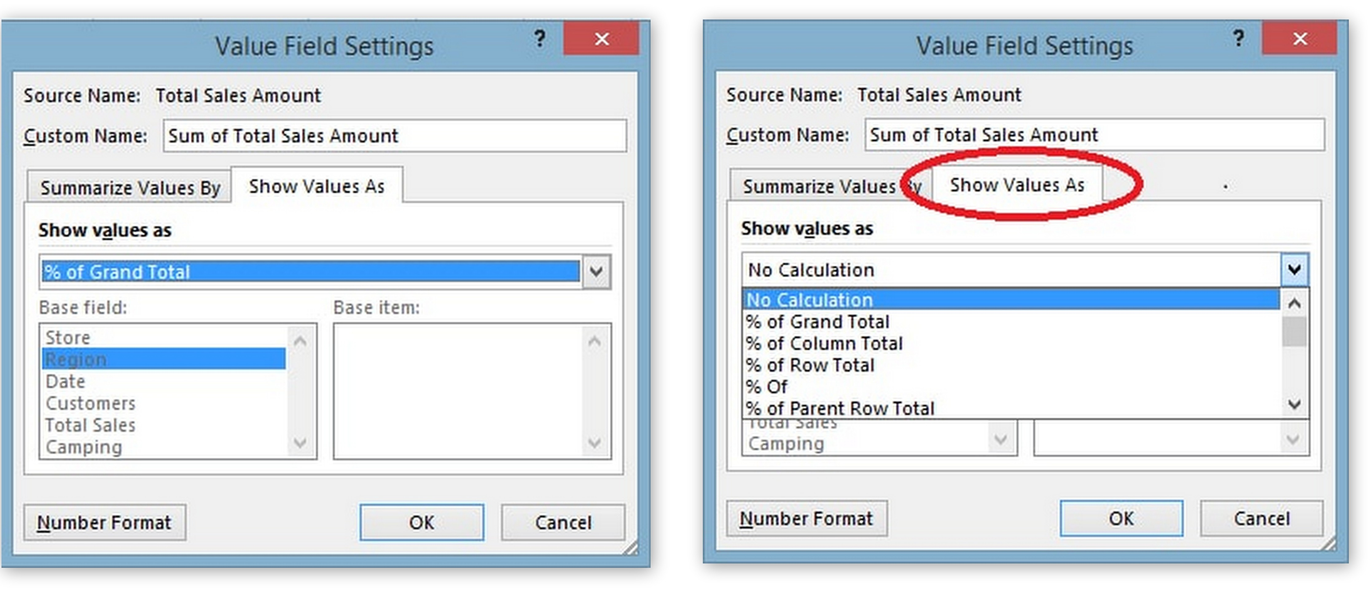 Pivot tables for experts so the resultant values of pivot table are displayed as percentages of grand total gamestrikefo Choice Image
